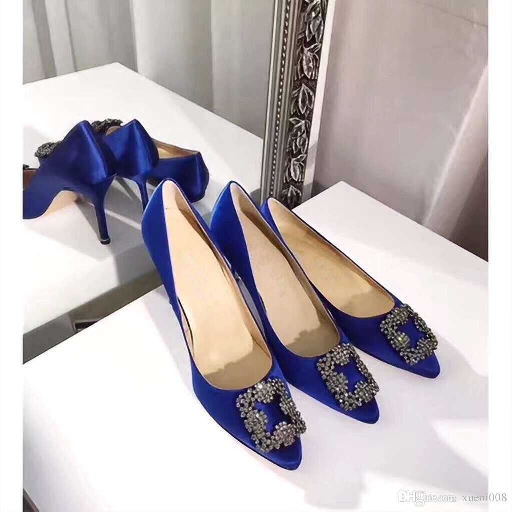 68ba609f258e Ankle Strap Red Bottom Rivets Studded shoes Woman pumps Genuine leather  High Heels Pointed toe Rivet Wedding Shoes by18120901