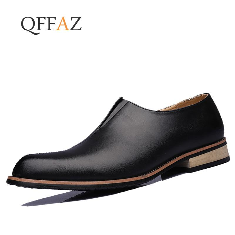 2fcfb1abf4f QFFAZ Handmade Men Dress Shoes Leather Formal Shoes Business Men ...