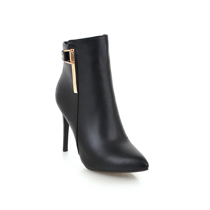 Compre Tallas Grandes Botines Para Mujer Plataforma Tacones Altos Mujer Zapatos Con Cordones Hebilla Corta Bota Casual Para Mujer Calzado A 61 31 Del Brittany78 Dhgate Com