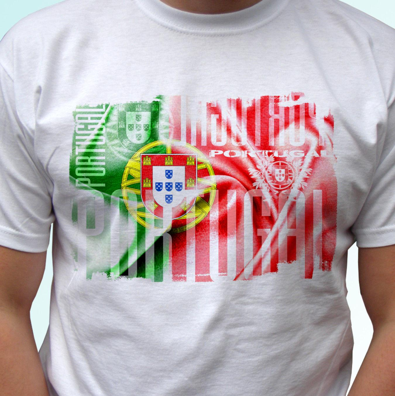 c6e612104aa62 Portugal Flag Design White T Shirt Top Modern Tee Mens Womens Kids Baby  Sizes Funny Unisex Casual Funny Graphic T Shirts Funny T Shirts For Sale  From ...