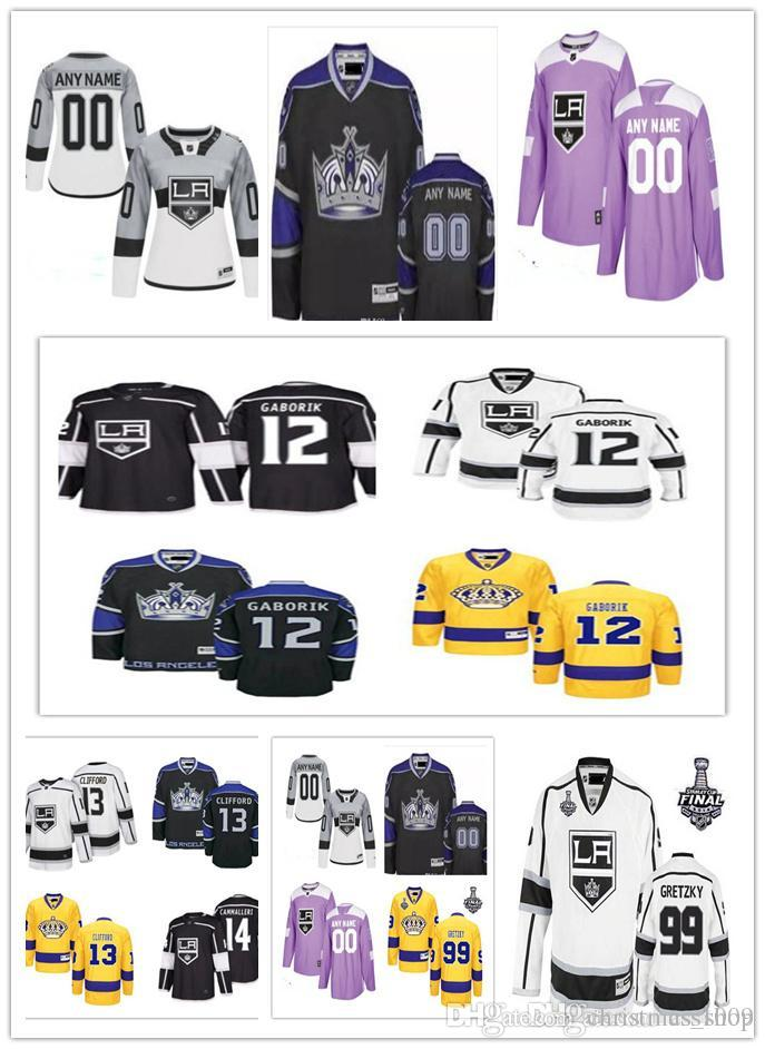 2018 Hockey LA Los Angeles Kings Jerseys 12 Marian Gaborik 14 Michael Cammalleri 16 Marcel Dionne 19 Alex Iafallo 20 Luc Robitaille S-5XL