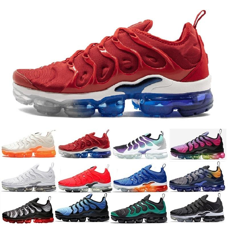 best sneakers 30e01 2e2aa Großhandel Nike Air Vapormax Plus 2018 TN 2019 Dämpfe TN Plus Olive In  Metallic Weiß Silber Schuhe Männer Schuhe Für Männer Schuh Maxes Pack  Triple Schwarz ...