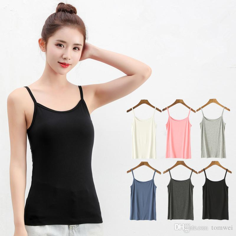 c58722314a4 2019 Tank Tops Women Plus Size Sleeveless Sexy T Shirts Modal Cotton Crop  Tops Camis Striped 2019 Cheapest Wholesale Pink From Tomwei