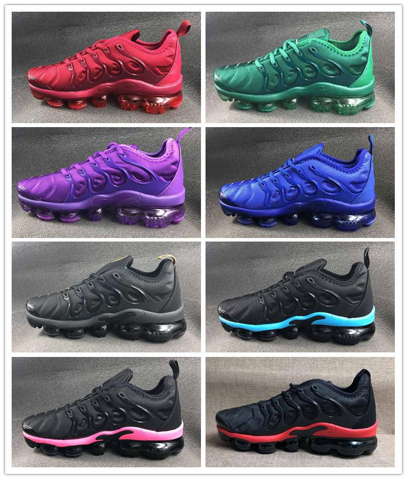 2019 Cushion Tn Plus Purple White Black Blue Green Women Mens Designer Sports Shoes Brand Trainers Comfortable Ladies Mens Outdoor Sneakers