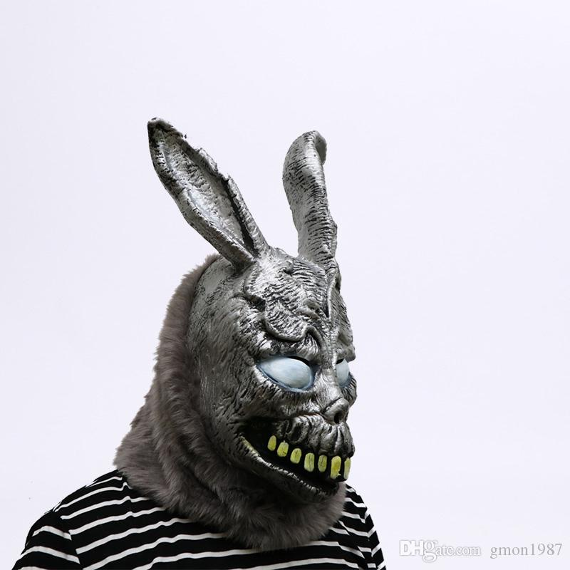 New!!! Hot Sale Animal Cartoon Rabbit mask Donnie Darko FRANK the Bunny Costume Cosplay Halloween Party Maks Supplies