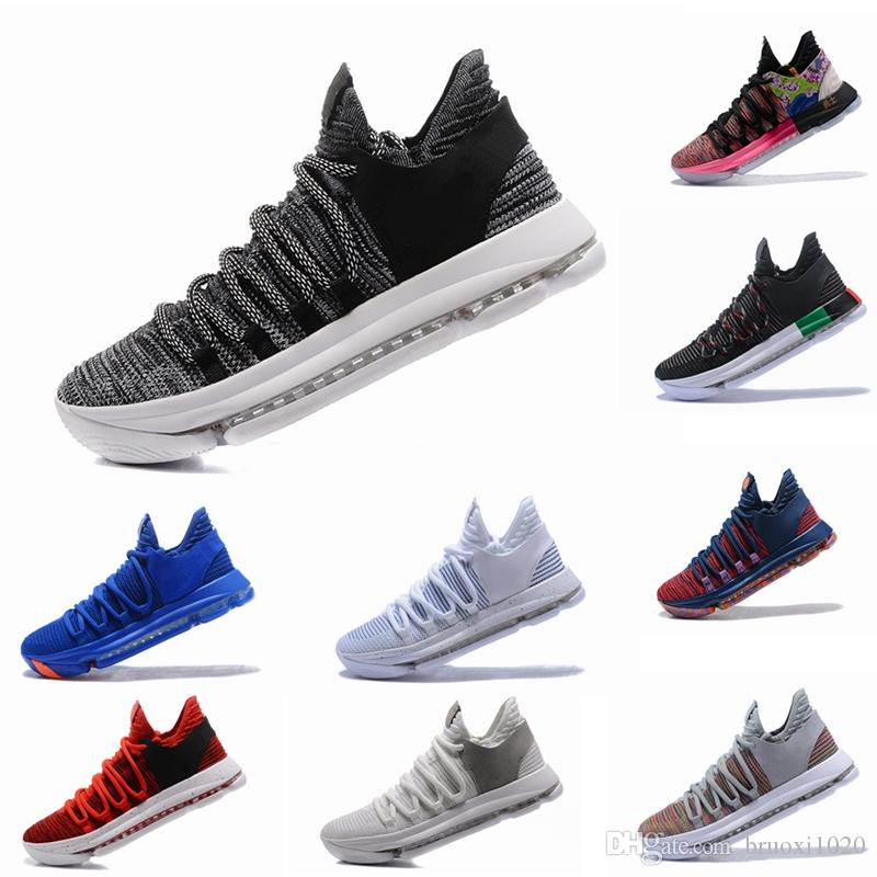 317a15f99975 2019 Zoom KD 10 Multi Color Oreo Numbers BHM Igloo Men Basketball Shoes 10s  X Elite Mid Kevin Durant Sneakers Trainers Zapatos Chaussures Basketball  Shoes ...