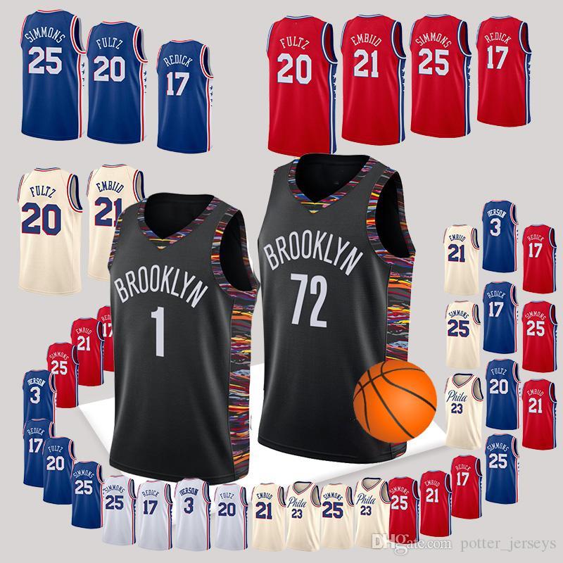 5f99e624b686 2019 1 D Angelo Russell Jersey BROOKLYN Jerseys NETS 72 Black Biggie 76ers  Markelle 20 Fultz Allen 3 Iverson J.J. 17 Redick Basketball From  Potter jerseys