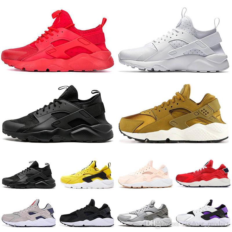 fdcb62260a9 2019 New NIK Huarache 1.0 4.0 Mens Running Shoes Womens Ttripe Balck White  Oreo Tennis Sport Shoes Fashion Sneakers Designer Trainers 36 45 From ...