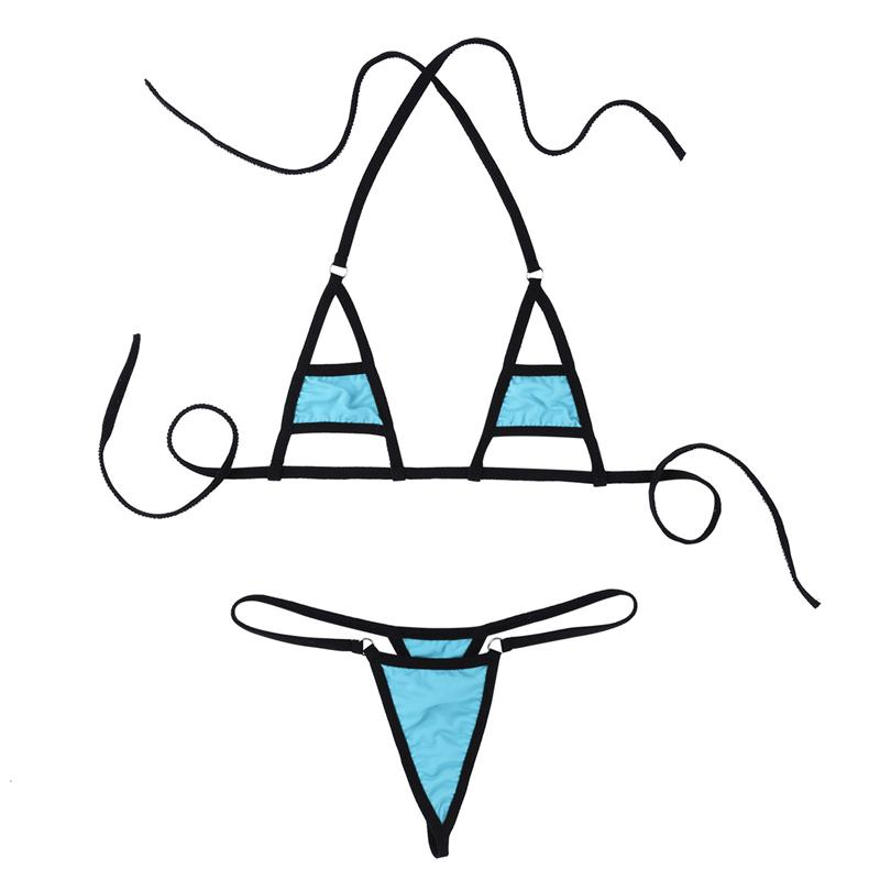 Multi Color Vedi attraverso Mini Micro Bikini Costume da bagno Intimo sexy hot lingerie erotica Set costumi da notte