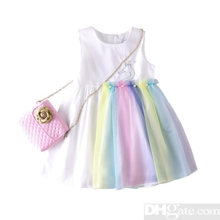 b2462b3eb 2019 The designer Summer Brand Girl Dress Child Kids Children's Clothing  Princess Print Clothes Vestidos Roupa Menino Cotton Party Dresses