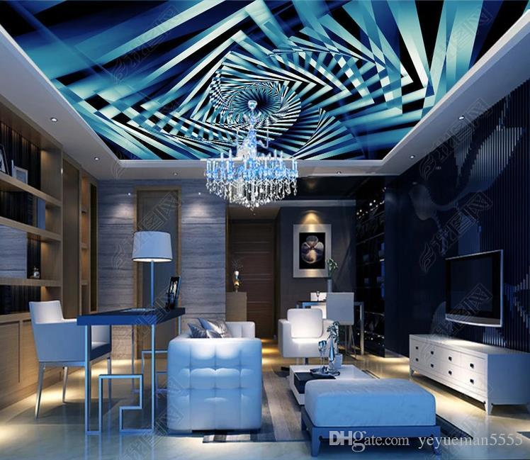Großhandel Benutzerdefinierte 3d Decke Diamond Ray Fototapete ...