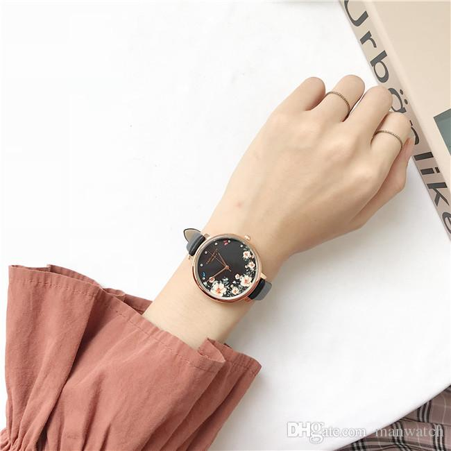 factory wholesale low price explosion models Watches Large dial fine strap ladies Wrist Watches flowers round dial temperament female watch