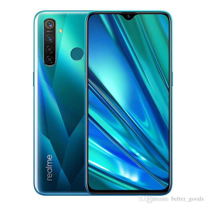 "Original Realme Q 4G LTE Cell Phone 8GB RAM 128GB ROM Snapdragon 712 AIE Octa Core 6.3"" Full Screen 48MP AI Fingerprint ID Face Mobile Phone"