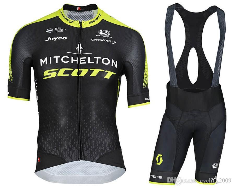 2018 Black Short Sleeve Cycling Jersey Bib Set Race Bike Clothes ... 77d8baaff