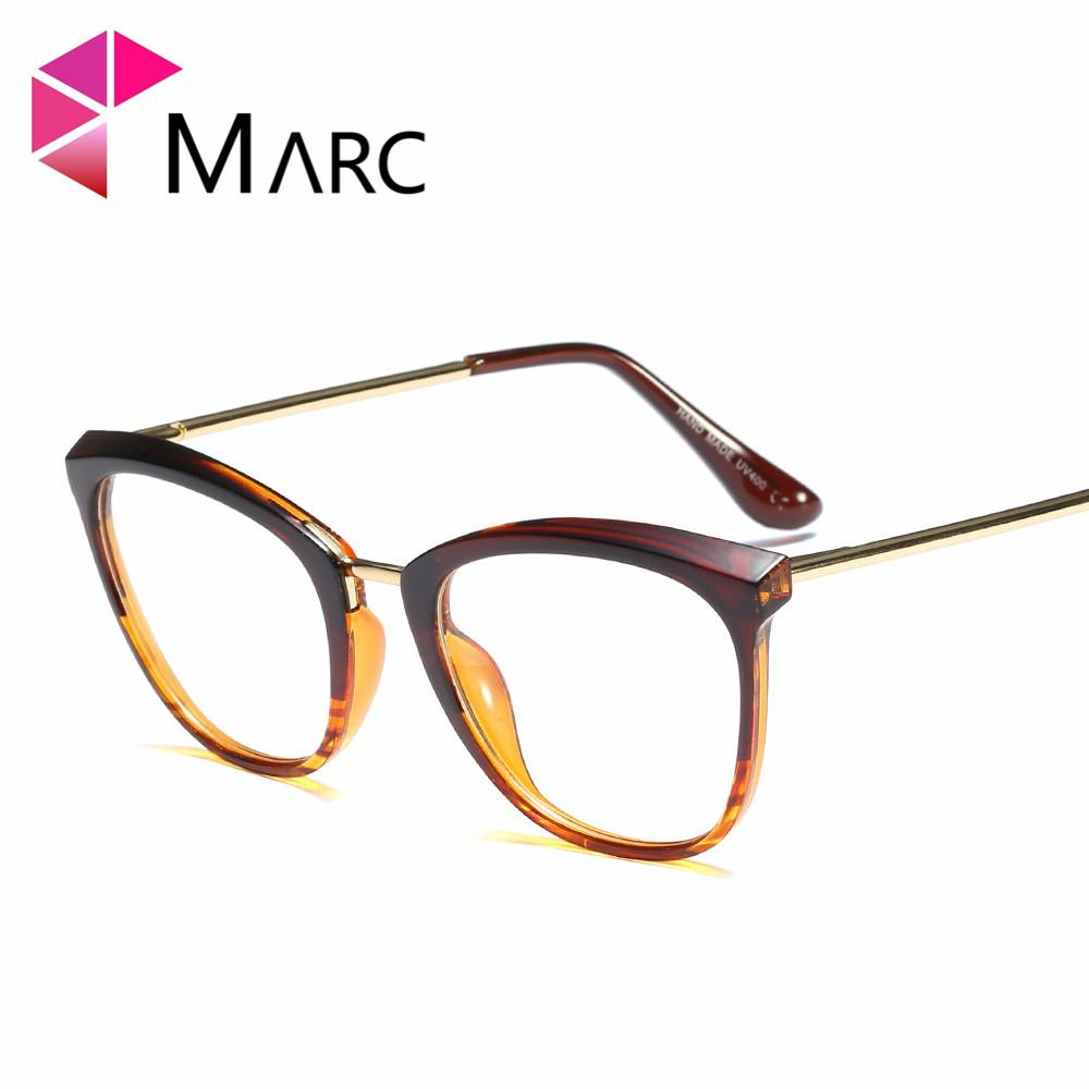 df83eeb676b MARC Frame Eyeglasses Fashion Clear Lens Women 2019 Cat Eye Trend Metal  Glasses Plastic Solid Vintage Square Personality 97614 1 UK 2019 From  Watercup