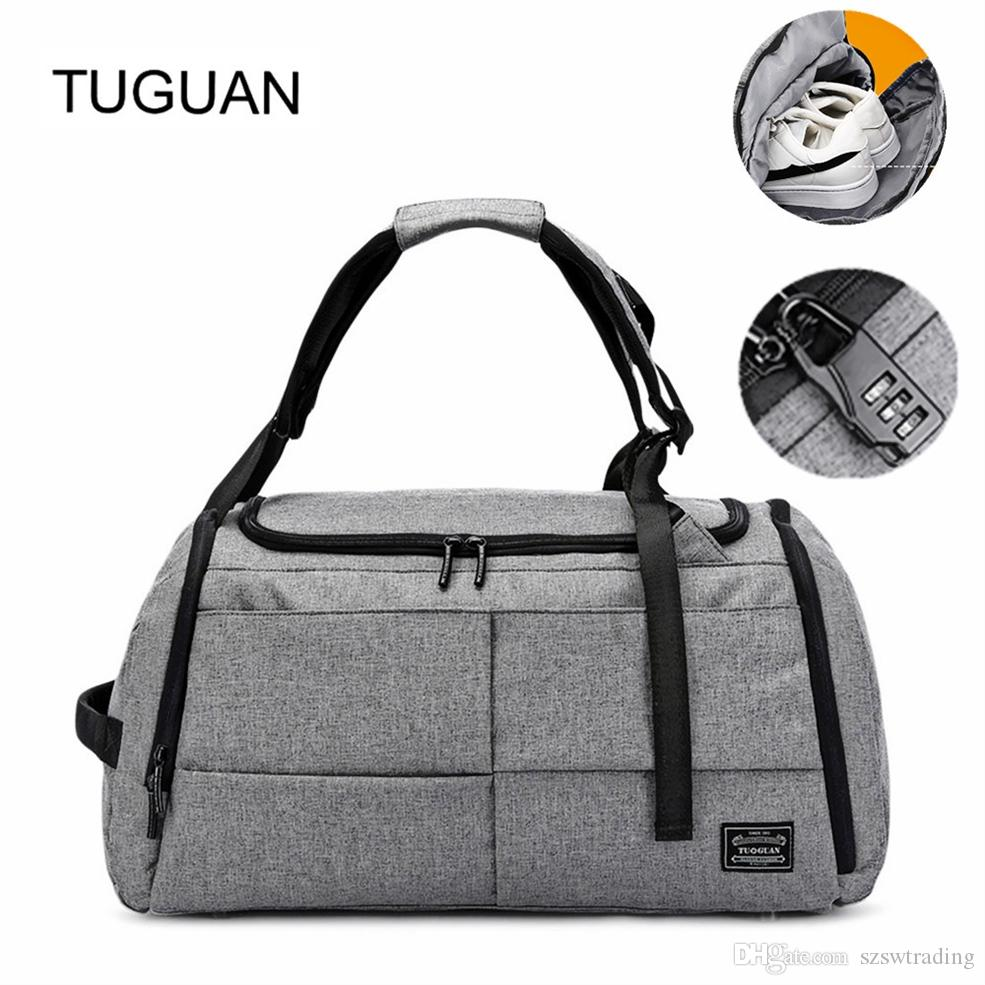 08ccc7a8fe3 2019 TUGUAN 40L Men Gym Bags Training Sports Bag Men Women Fitness Bags  Handbag Shoes Pouch Yoga Tote Outdoor Rucksack Backpack #829315 From  Szswtrading, ...