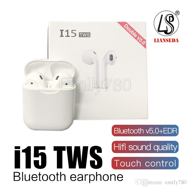6be9fe10846 Newest I15 Tws PK I12 I10 TWS Wireless Headphones Bluetooth 5.0 Touch  Sensor Wireless Charging Earphone Earbuds For Smartphone Wired Cell Phone  Headsets ...