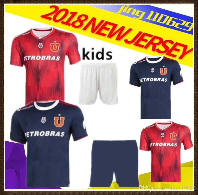 25a6a02247f7b KIDS Kit Universidad De Chile 2019 Camisetas De Fútbol Local Lejos Azul  Rojo 19 20 SOTELDO HENRIQUEZ BEAUSEJOUR ECHEVERRIA UBILLA Por Jing110629