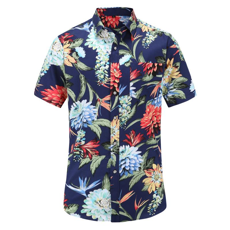 71d78a541 2019 Mens Summer Beach Hawaiian Shirt 2019 New Brand Short Sleeve Plus Size  Floral Shirts Men Casual Holiday Vacation Clothing 3XL From Bellecome, ...