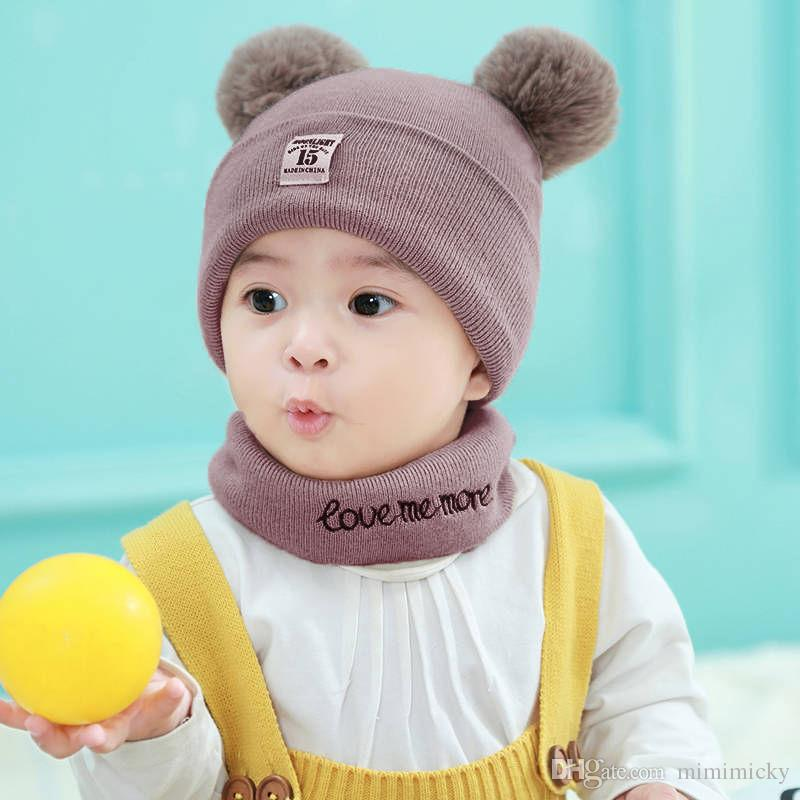Baby Hat Men And Women Baby Hat Winter Korean Version of the Wool ... 30815e12fd93