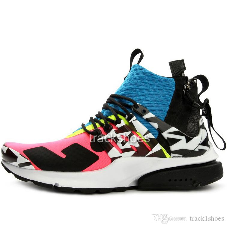 new york 72d65 056c0 New presto mid zip sock dart sneakers men women acronym black cool grey  racer pink dynamic yellow Jogging Running Athletic Shoes
