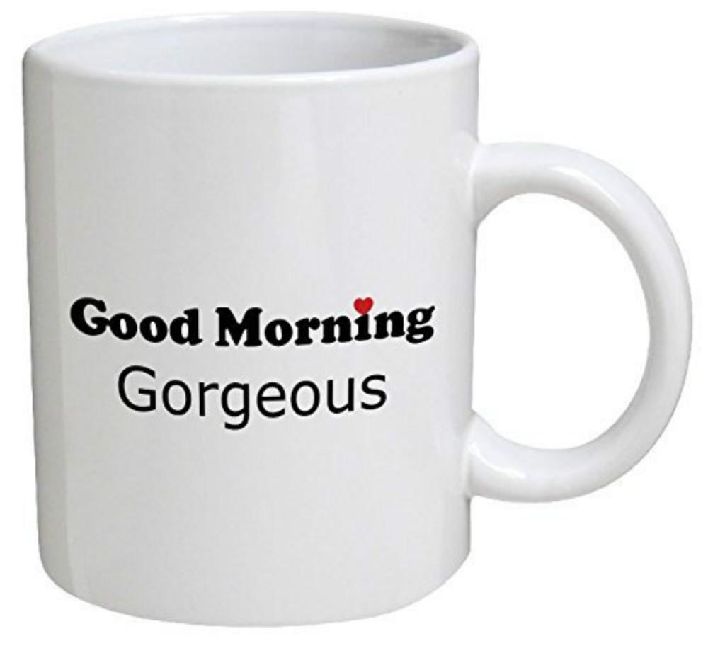 Good Morning Gorgeous Wife Girlfriend Heart Valentine Coffee Mugs