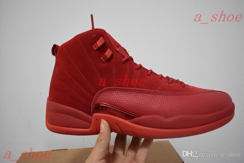 La Baskets Noir 12s Ailes Les Avec Pour 12 En Daim Ovo Hommes Rouge Chaussures Boîte Occasionnels X Nylon Maître Viennent mvNO8n0w