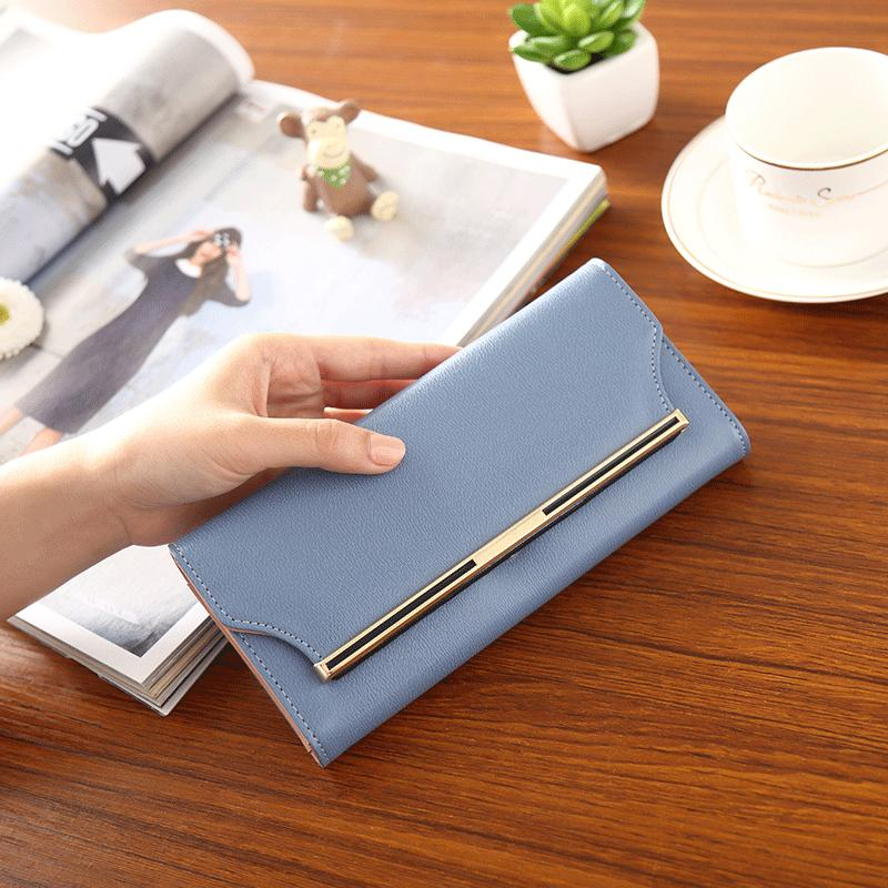 Long Leather Women Wallet Female Wallet Hasp Women's Purse Fashion Trifold Credit Card Holder Coin Purse Lady carteira feminina
