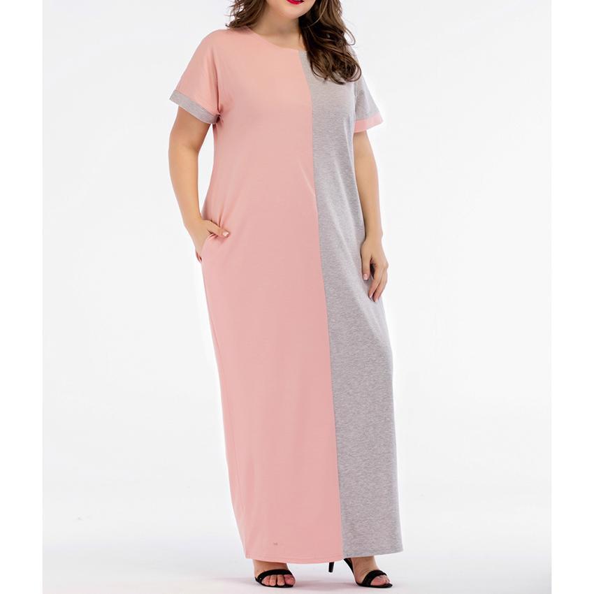 huge discount 453a9 ceb6e Vestito lungo da donna manica corta da donna Plus Size Abiti Mujer Roupa  Abito femminile Medio Oriente Musulmano Abito da donna Panno