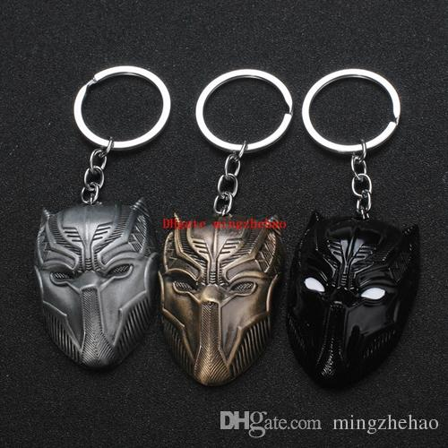 10 Pcs/lot Marvel Comics Black Panther Keychain For Men Superhero Captain America Civil War Llavero Metal Cell Phone Key Chain Jewelry Gift