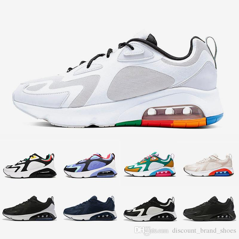 Nike air max 200 airmax shoes Vast Grey 200 mens running shoes 200s Desert Sand Mystic Green Royal Pulse Team Gold Triple white black women men