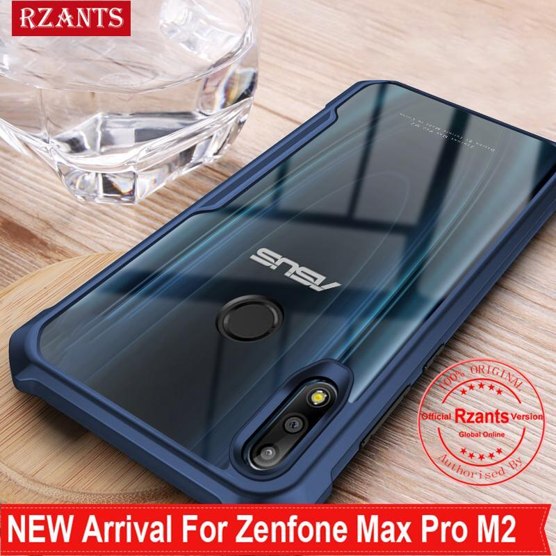 Rzants For Zenfone Max Pro M2 Hard Case Four corner Transparent Silica Gel Matte ShockProof Slim Thin Cover Phone Casing
