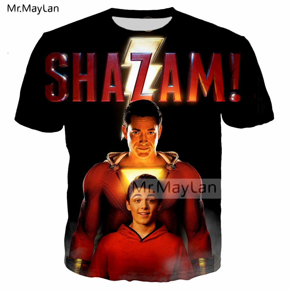 10da5733c 2019 Newest DC Movie Shazam ! Print 3D Streetwear Tshirts Men/Women Hip Hop  Punk T Shirt Boys Custom T Shirt Man Black Clothes T Shirt Sites Quirky T  Shirts ...