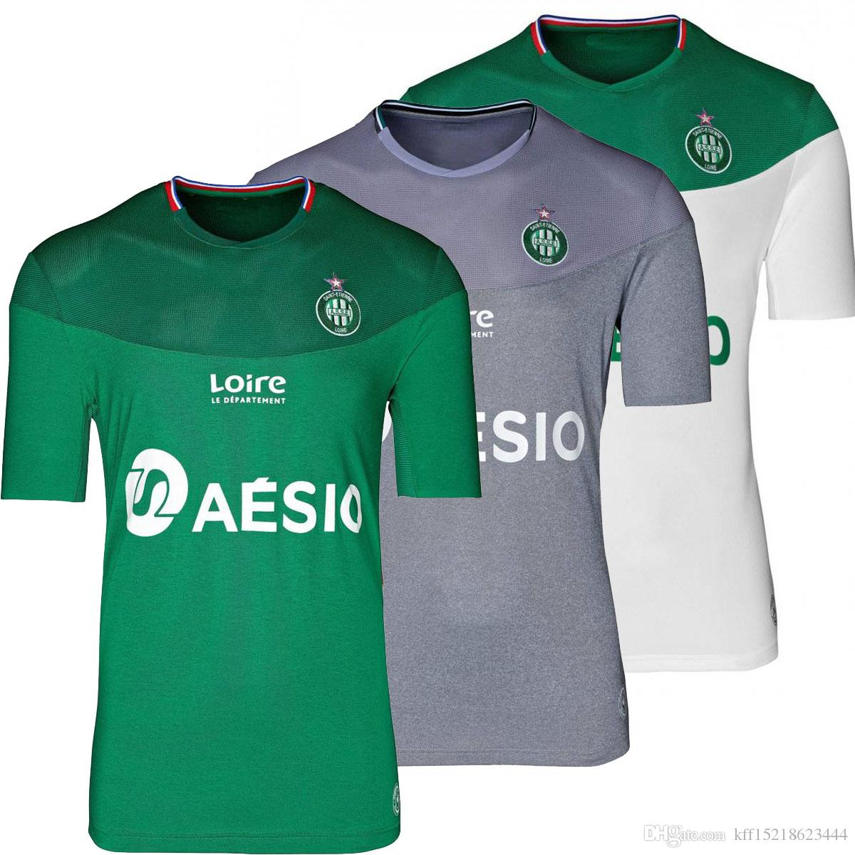 hot sale online ef939 70e94 ASSE 2019/2020 home and away season Saint-Étienne replica soccer jerseys  KHAZRI BERIC CABELLA DIONY HAMOUMA football jersey maker men jersey