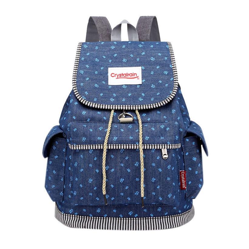 dba394d81 Fashion Women Soft Denim Drawstring Backpack Girls Leisure Jeans School  Rucksack Female Travel Bag Bolsas Mochilas Feminina Hunting Backpacks  Gregory ...