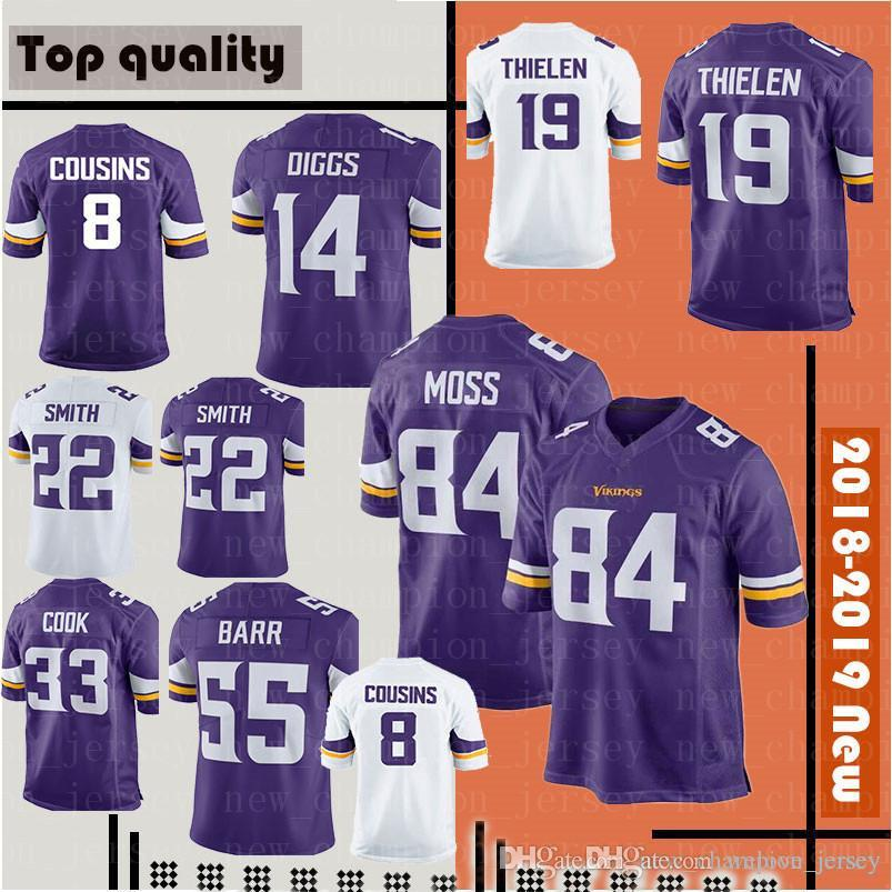 691e91eac 2019 19 Adam Thielen 22 Harrison Smith Jersey Minnesota Mens Vikings 8 Kirk  Cousins 84 Randy Moss 14 Stefon Diggs 33 Dalvin Cook Jerseys From  Welove jersey