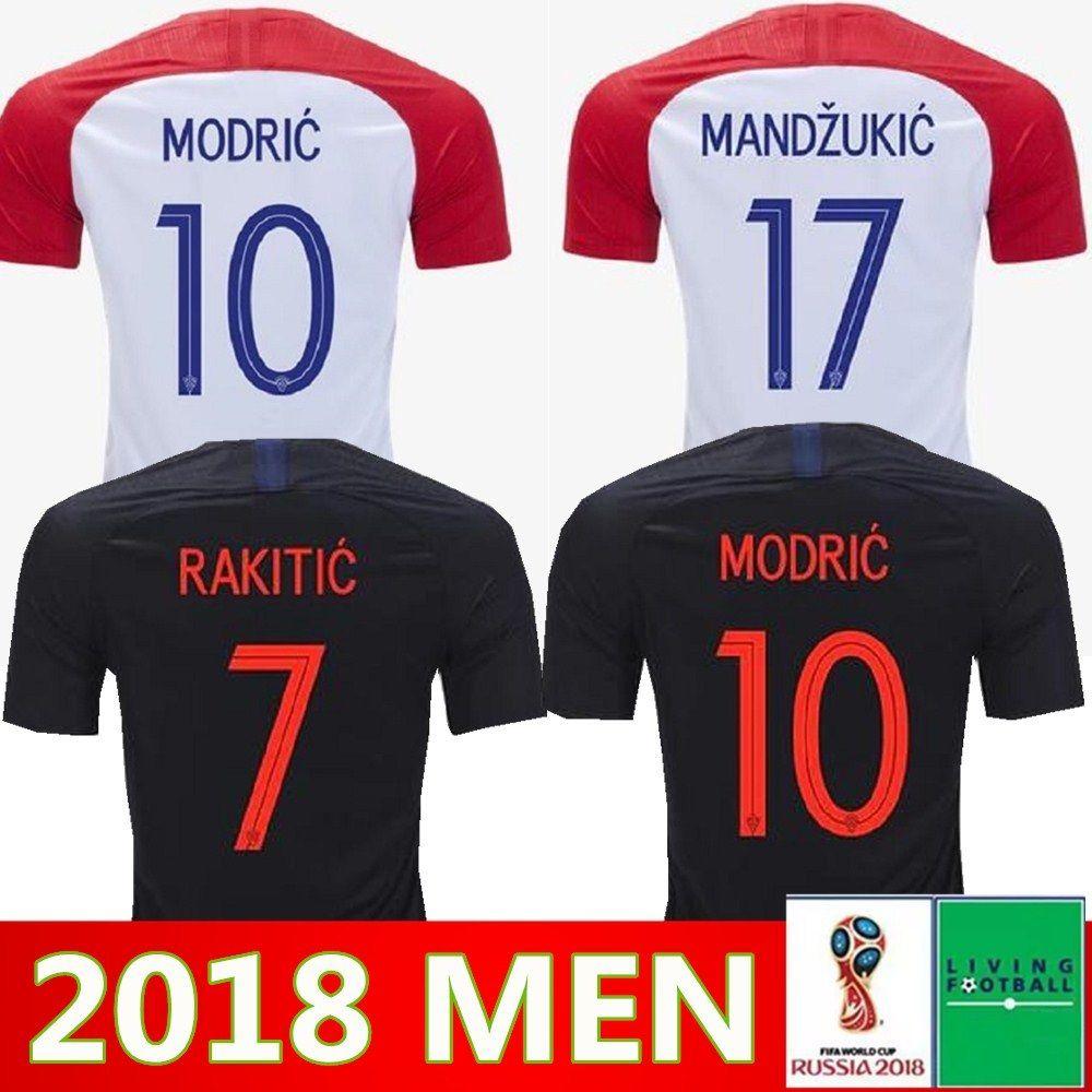 5444b9d0e 2018 World Cup MODRIC MANDZUKIC RAKITIC CroATia Home Soccer Jerseys ...