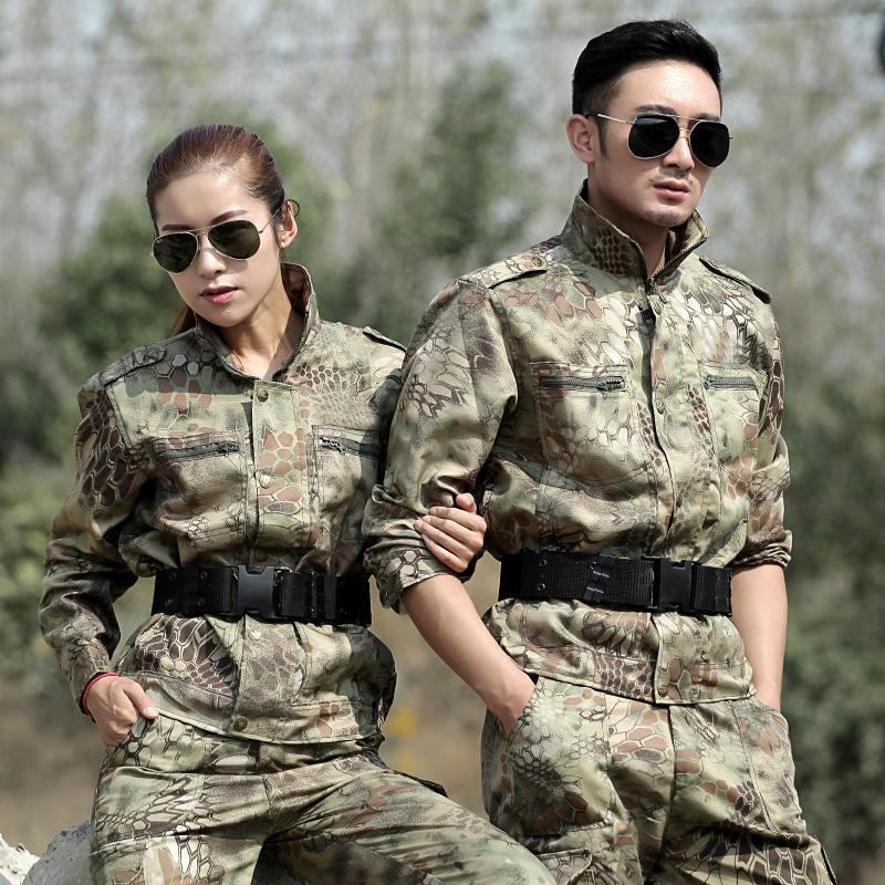 Black Python Hunting Fishing Clothes Men Tactical Combat Uniform Camo Pants Ghillie Suit Female Camouflage Sets