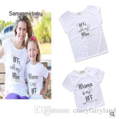 20201f4364e48 Mother And Daughter Matching Tshirt Tops Casual Outfits 2019 Summer ...