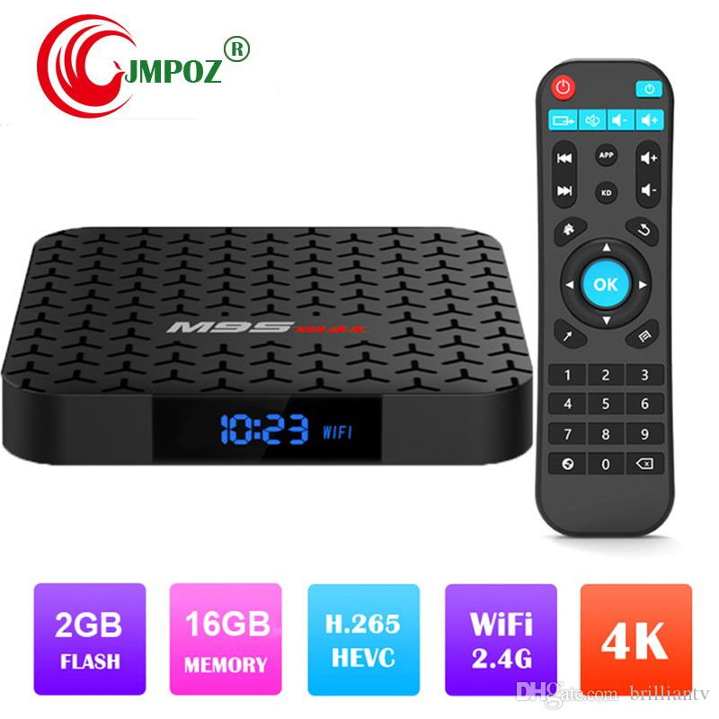 14pcs Original M9S MAX 2GB 16GB Android 7 1 TV Box Amlogic S905W support  IPTV HDMI Streaming Media Player Better X96 MAX H96 MAX S905X2