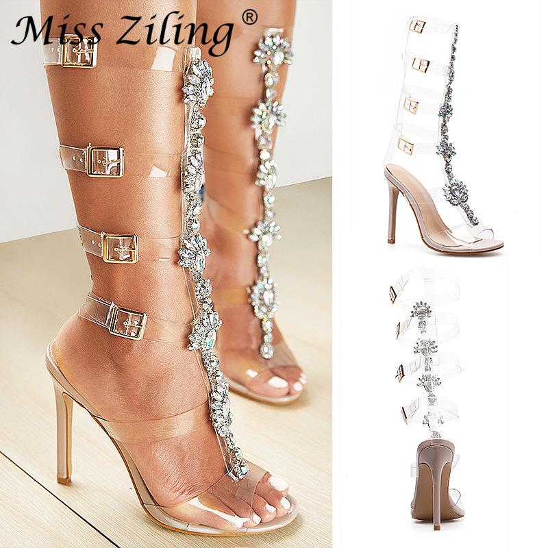 f165e79ec 2019 Explosion Models Foreign Trade Ladies Sandals with Sexy Open ...