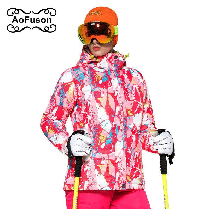 Compre Roupas Ski Invierno Cálido Chaqueta Mujer Snowboard Ropa De Esquí De Montaña  Chaqueta Impermeable De Abrigo Térmico Jaqueta Feminina A  60.9 Del ... e13915d981df