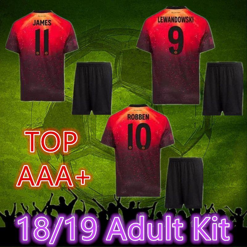 pretty nice cc76f 3f1e3 Top quality 2018 2019 EA sports Bayern Munich Adult Kit JAMES LEWANDOWSKI  MULLER KIMMICH jersey 18 19 HUMMELS robben football uniform