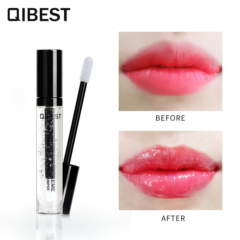 50aacc489d0 QIBEST Lip Plumper Volume Lips Extreme Moisturizer Plump Oil 3D Transparent  Waterproof Clear Plumping Gloss Makeup Lip Gloss Sets Lip Glosses From ...