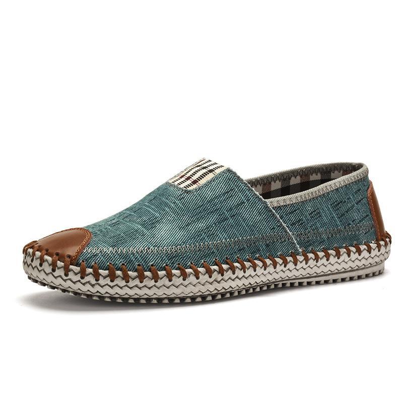 Männer Segeltuchschuhe Ein Fuß Frühling und Sommer Freizeitschuhe Faule Schuhe Modetrend Bequeme Männer Tuch Flacher Schuh