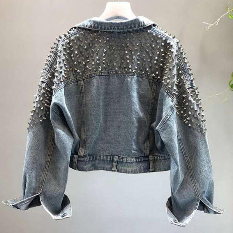 YingYuanFang Fashion new bat sleeve heavy work rivet short washed denim jacket female jacket Y190905