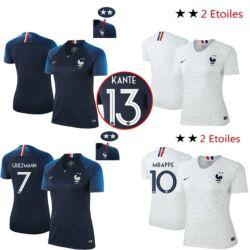 huge selection of 2be38 d1efb 2 Stars France GRIEZMANN MBAPPE POGBA women shirts DEMBELE MARTIAL KANTE  T-shirts GIROUD tracksuits Maillot de foot A11