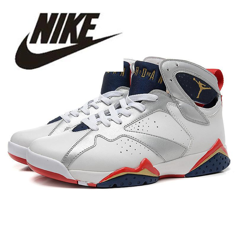 best service 9f840 3a5b7 2019 Air Jordan Retro 7 Basketball Shoes Jordan VII Jordans Air 7S Men  Women Trainers Hare Raptor Bordeaux Hare Tinker Alternate French Blue  Sweater ...