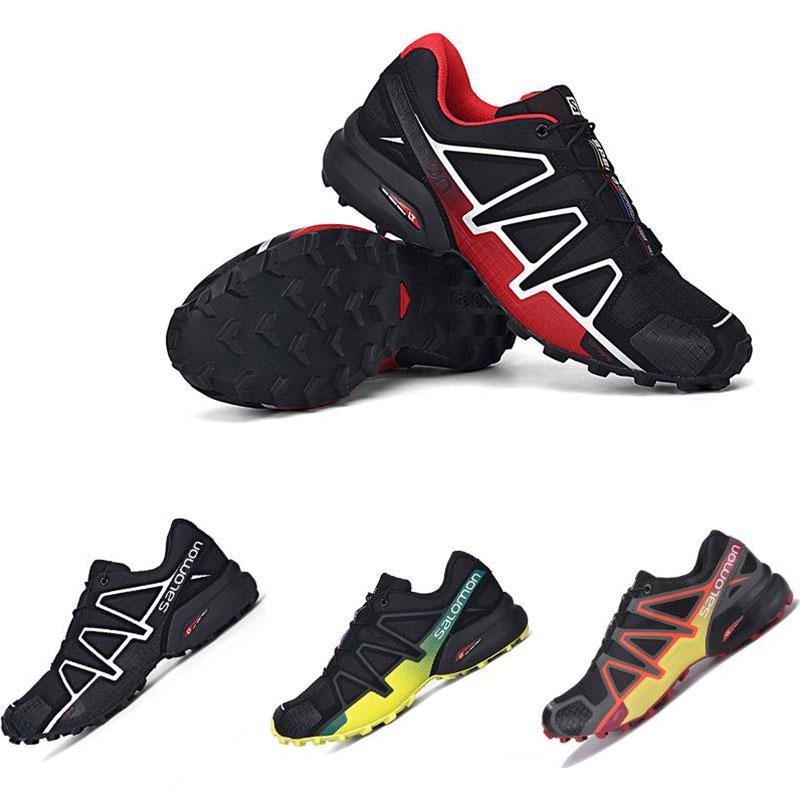 Speed Cross 4 IV CS Trail Laufschuhe Herren Schwarz Rot Speedcross Designer Casaul Sneakers
