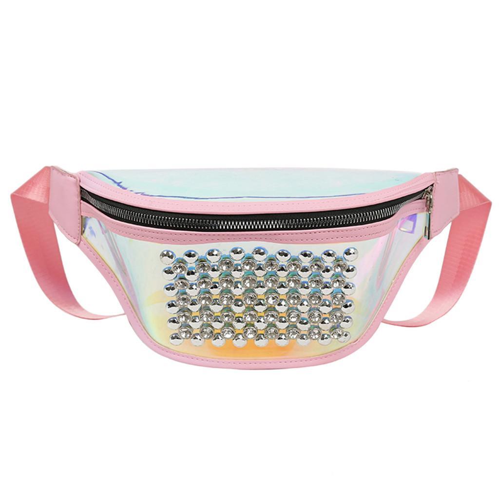 f4de99a2de43 Sequins Holographic Fanny Pack Feminina Waist Pack Women s Laser Chest  Waist Bag Women Belt Bag Bum 2019 Pouch L2